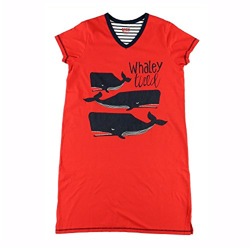 Tired Sleepshirt (Lazy One Womens Fitted Animal Night Shirts (Small/Medium, Whaley Tired V-Neck Nightshirt))
