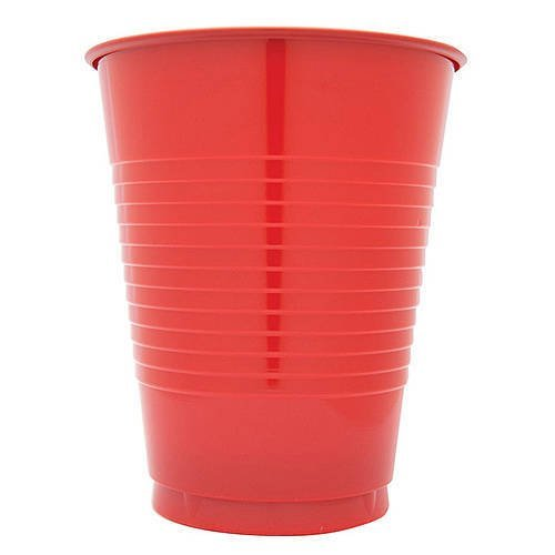 12 oz Red Plastic Cups, 20 Pack