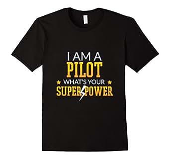 Mens I am Pilot Tee shirt 2XL Black