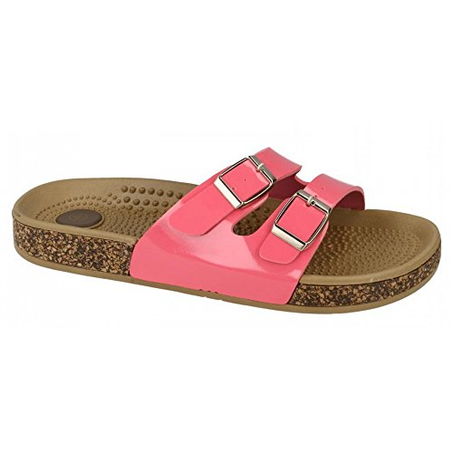 On Mule Womens Sandals Rosa Two Buckle Spot Fuchsia Ladies 16xTq