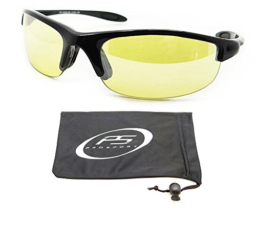 Anti Reflective Yellow Lens Sunglasses for Cycling, Running, Shooting, Hunting, Motorcycle Riding and Driving. Impact Resistant Polycarbonate Lenses. Fits Extra Small to Medium Head Sizes. Asian Fit. Free Microfiber Cleaning Case included for each pair. For Sale