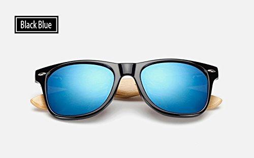 de black Negro de Sunglasses blue Mujeres Sol TL Hombres Azul Gafas Gafas Mujer Gafas 7Sqtnv