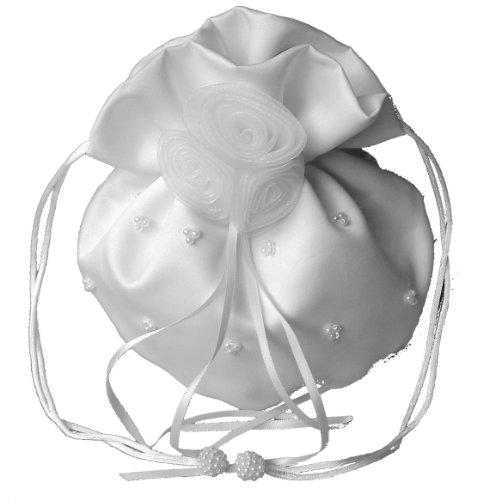 LadyMYP - Bolso de asas de terciopelo para mujer blanco - blanco