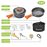 Gonex Camping Cookware Set Mess Kit, Backpacking