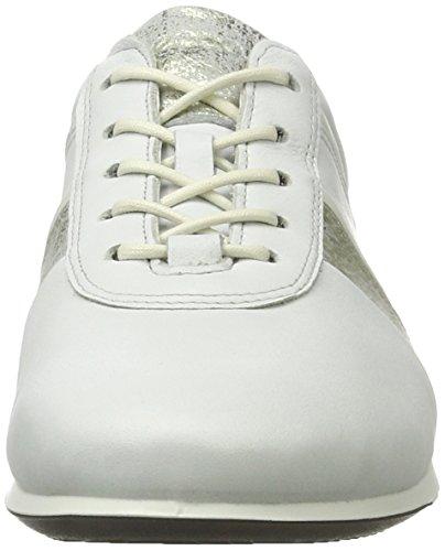 Blanco Touch Mujer gravel Zapatillas Sneaker white Ecco Para 50536white Z6xO1FF