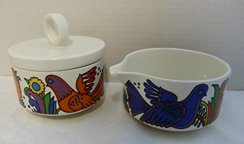 Villeroy and Boch Acapulco Made in Luxembourg Vintage Sugar Bowl & Creamer Set