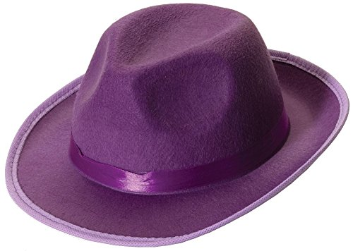 Forum Novelties Men's Deluxe Adult Novelty Fedora Hat, Purple, One Size (Adult Novelty Hats)