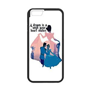 Customize TPU Gel Skin Case Cover for iphone 6+, iphone 6 plus Cover (5.5 inch), Cinderella