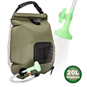 side facing ruiMeer shower bag 5 gallons/20l solar