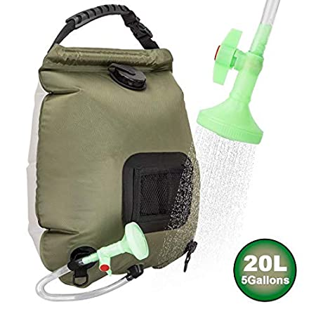 side facing ruiMeer shower bag 5 gallons/20l Solar Shower