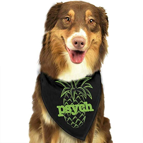 Hasowell Psych Pineapple Logo Dog Bandana Collars Triangle Neckerchief Puppy Bibs Scarfs Pet Scarfs Cats and Baby Scarf Towel ()
