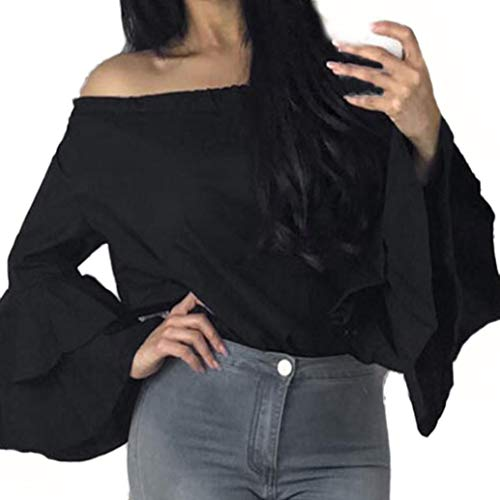 Clearance Womens Blouses,KIKOY Ladies T shirt Blouse Soft Long Sleeve Loose Tops