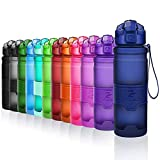 ZOUNICH Sport Leakproof Water Bottle Bpa Free Tritan Plastic Drinking Bottles 400ml/500ml/700ml/1L with Times to Drink & Filter & Lock Lid Eco Friendly For Outdoor,Running,Camping,Cycling,Gym,Kids