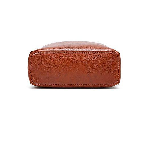 Réglable Confortable 19 Matériel 5cm De Main Nouveau Glissière Polyuréthane Bandoulière Magnétique Polyester Fermeture Femme Brown Boucle À Pour Crochet 17 Sac 8 XqUqgw7