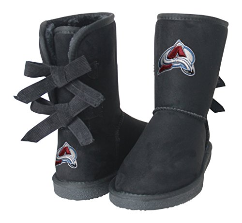 NHL Colorado Avalanche Boys Fan Boot, Size 7, Black by Cuce Shoes