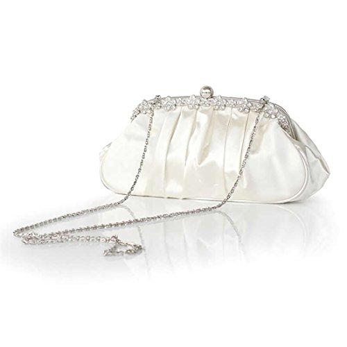 YYW Evening Bag - Cartera de mano para mujer champán