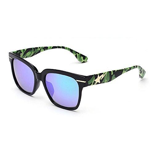 Soleil Les Wenjack Camouflage légères Plein Cadre Lunettes Plage Plein Protection Rétro Ultra Jambes en Été Femmes Vacances Vert pour pour Femmes Hommes Air de UV Conduite PArdxwqA