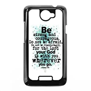 Joshua1:9 Bible Verse - Fashion Style For Custom Case for HTC One XMaterial Back Case by mcsharks