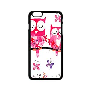 Pink lovely owls Cell Phone Case for iPhone 6