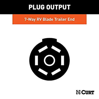 CURT 56613 Cold-Weather Replacement 7-Way RV Blade Trailer Wiring with -40F to 221F Degree Rating, Trailer Side, 10-Foot Wires, 7 Pin Trailer Wiring: Automotive