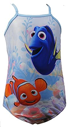Disney Girls One Piece Finding Nemo Dory Swimming Costume Bathing