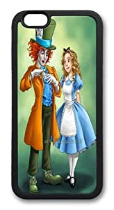 Alice and Wonderland Mad Hatter TPU Silicone Case Cover for iPhone 6 Plus 5.5 inch Black