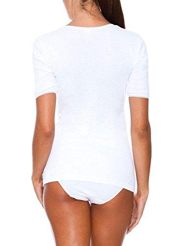 Princesa Camiseta Cubre Manga Corta Thermal Cuello Pico Pack3 Blanco