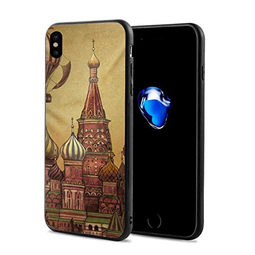 LeYue iPhone Xs/X Case, Moving to Moscow Slim Fit Liquid Silicone Gel Rubber Shockproof Case Soft Cover Compatible with iPhone X/XS 5.8 Inch