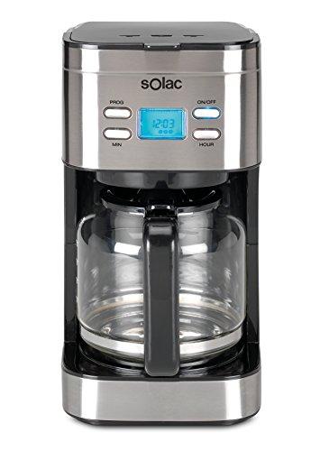 Solac Stillo CF4028 – Cafetera de goteo programable con jarra vidrio de 1.5 l, 12 tazas