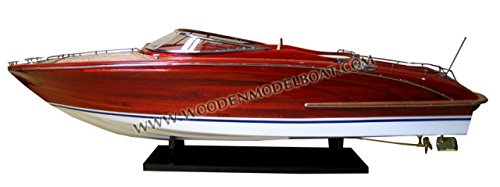 Gia Nhien SB0010P-60 Riva Rama 44 Lacquer Finished Wooden Model Speed Boat - Lacquer Finished