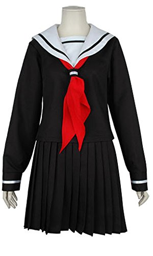 Hell Girl Costume (Ya-cos Halloween Masquerade Hell Girl Ai Enma Cosplay Uniform Costume)