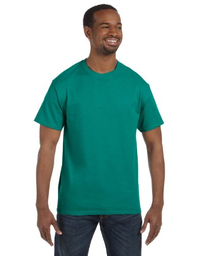 Jade Heavyweight T-shirt - JERZEES Adult Dri-Power Heavyweight Blend T-Shirt , Medium, Jade