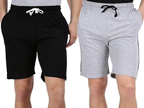 Tik Tok Solid Men  amp; Women Black, Grey Basic Shorts