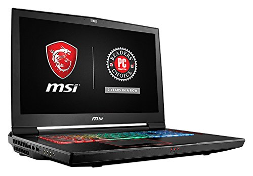MSI GT73VR TITAN PRO-1005 17.3″ 120Hz 5ms Hardcore Gaming Laptop i7-7700HQ GTX 1080 8G 16GB 512GB SSD + 1TB, Black-Red