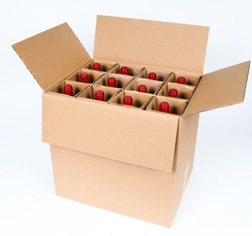 (SpiritedShipper Twelve Bottle Wine Shipper - Kraft (10 Boxes and Inserts))