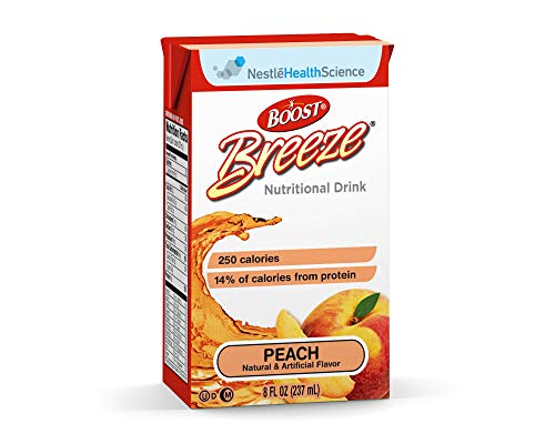 Boost Breeze Peach Flavor 8 oz. Carton Ready to Use, 10043900186402 – Each