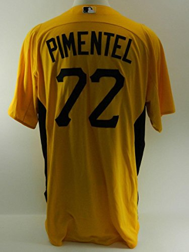 Pittsburgh Pirates Stolmy Pimente #72 Game Issued Alternate Jersey 897 - Game Used MLB Jerseys