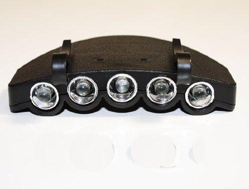 Ultrahelle Stirnlampe mit 5 Led KOPFLAMPE für Mütze Mützenlampe Cap light