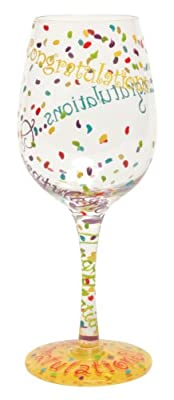 "Lolita from Enesco It's My Day Wine Glass, 9"", Multicolor"