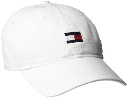 Tommy Hilfiger Men's Ardin Dad Hat, Classic White, One Size