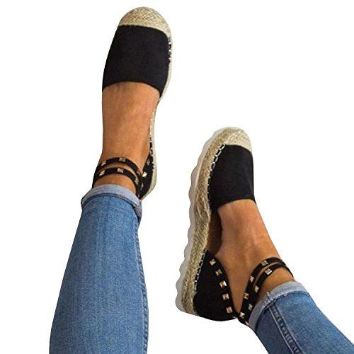 b58e26f347a Syktkmx Womens Espadrille Sandals Flat Platform Lace up Suede Strappy Cap  Toe Ankle Strap Summer Dress Shoes