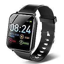 【最新型Bluetooth5.01.3インチ大画面】スマートウォッチフルタッチスクリーン活動量計歩数計心拍数長時間稼働カメラリモート3種類の文字盤6つ運動モードIP67防水GPS運動追跡多機能スマートブレスレット着信通