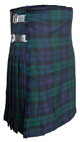 100% 13 oz Black Watch Wool Scottish Kilt 40 by UT Kilts
