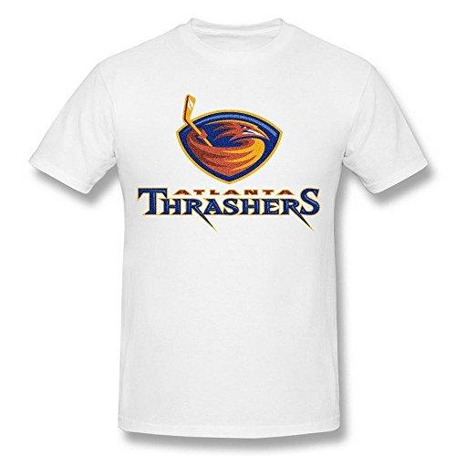 Men's NHL Atlanta Thrashers Hockey Logo White Tshirts