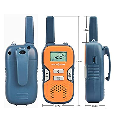 SOCOTRAN Walkie Talkies for Adults FRS License Free Two Way Radios for Kids Girls 2 Pack Easy to Use Long Range VOX LCD 22 Channel Flashlight Walky Talky for Camping Hiking Family Biking Fathers Day: Car Electronics