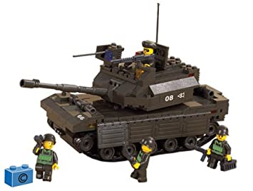 Construction B6500 De Sluban Army M38 Jeu Chartank WH29DIYE
