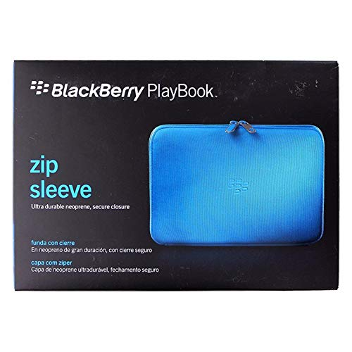 (Research in Motion Sky Blue Zip Sleeve for BlackBerry Playbook Tablet (ACC-39318-302))