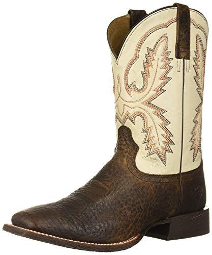 Ariat Men's Circuit Dayworker Western Boot, Banker Brown/Ivory, 11EE