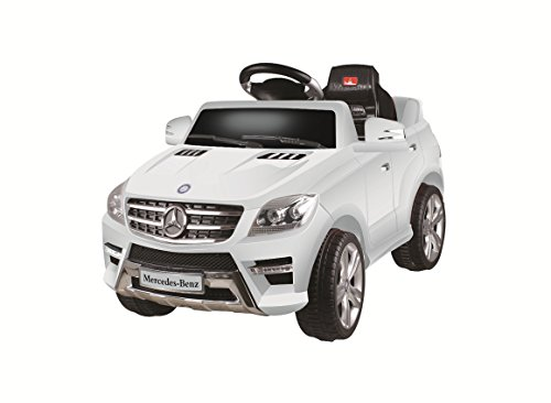 Best Ride On Cars Mercedes ML-350 White, 6V