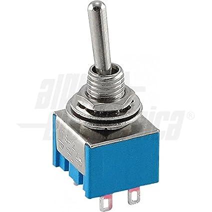 Interruptor miniatura a palanca 2P ON/-/ON para soldar